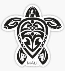 Black Tribal Turtle Tattoo / Maui Sticker