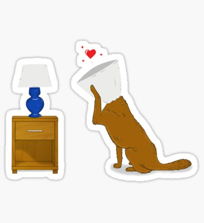 Dog In Love Sticker
