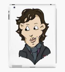 sherlock bbc cumberbatch cartoon iPad Case/Skin