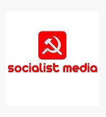socialist media Photographic Print