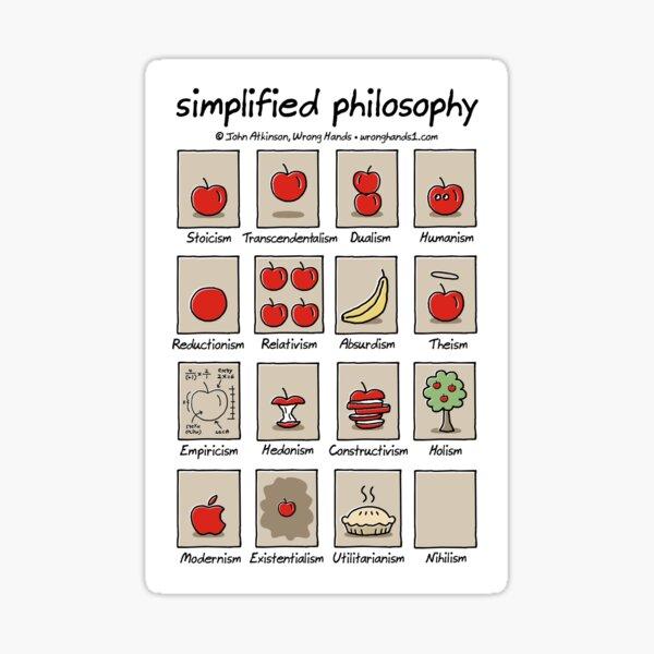simplified philosophy Sticker