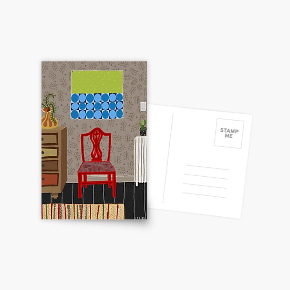 Red chair Postcard