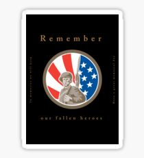 Memorial Day Greeting Card American WWII Soldier Flag Sticker