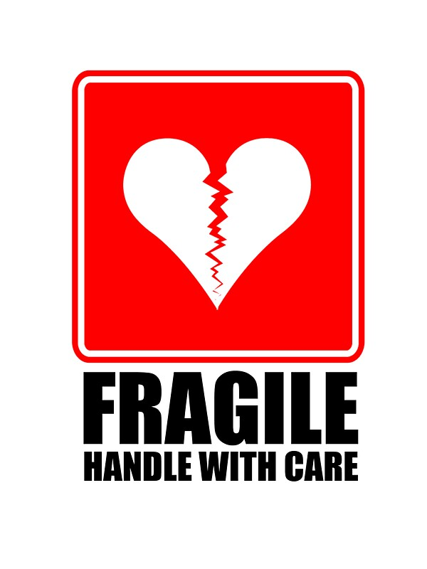 Quot Fragile Heart Quot Stickers By Fredonrope Redbubble