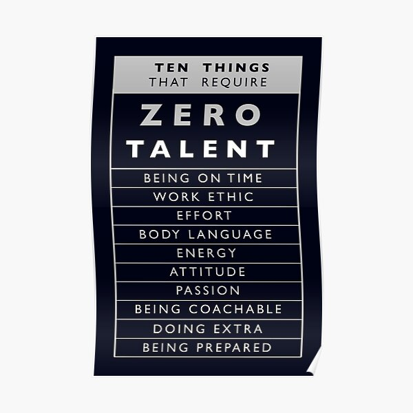 Ten Things That Require Zero Talent Poster