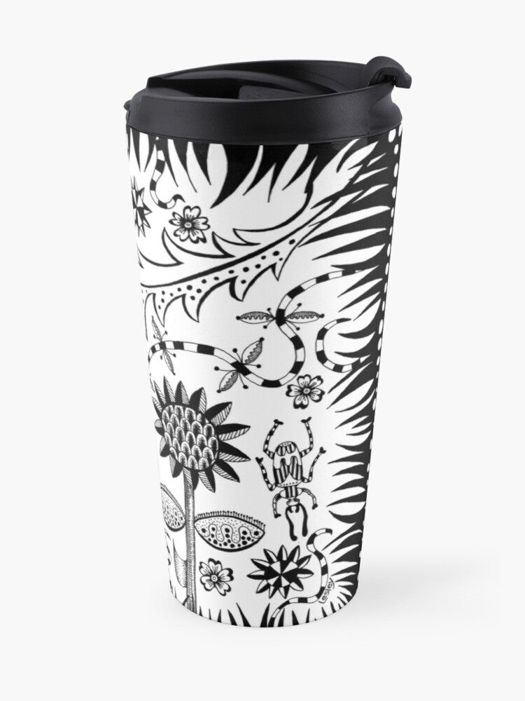 Alternate view of garden party Travel Mug