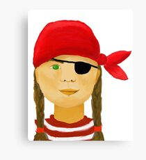 Little Pirate Girl Canvas Print
