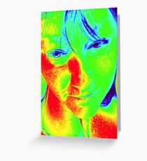Thermal Camera Self Portrait & 40 Degree Heat Greeting Card