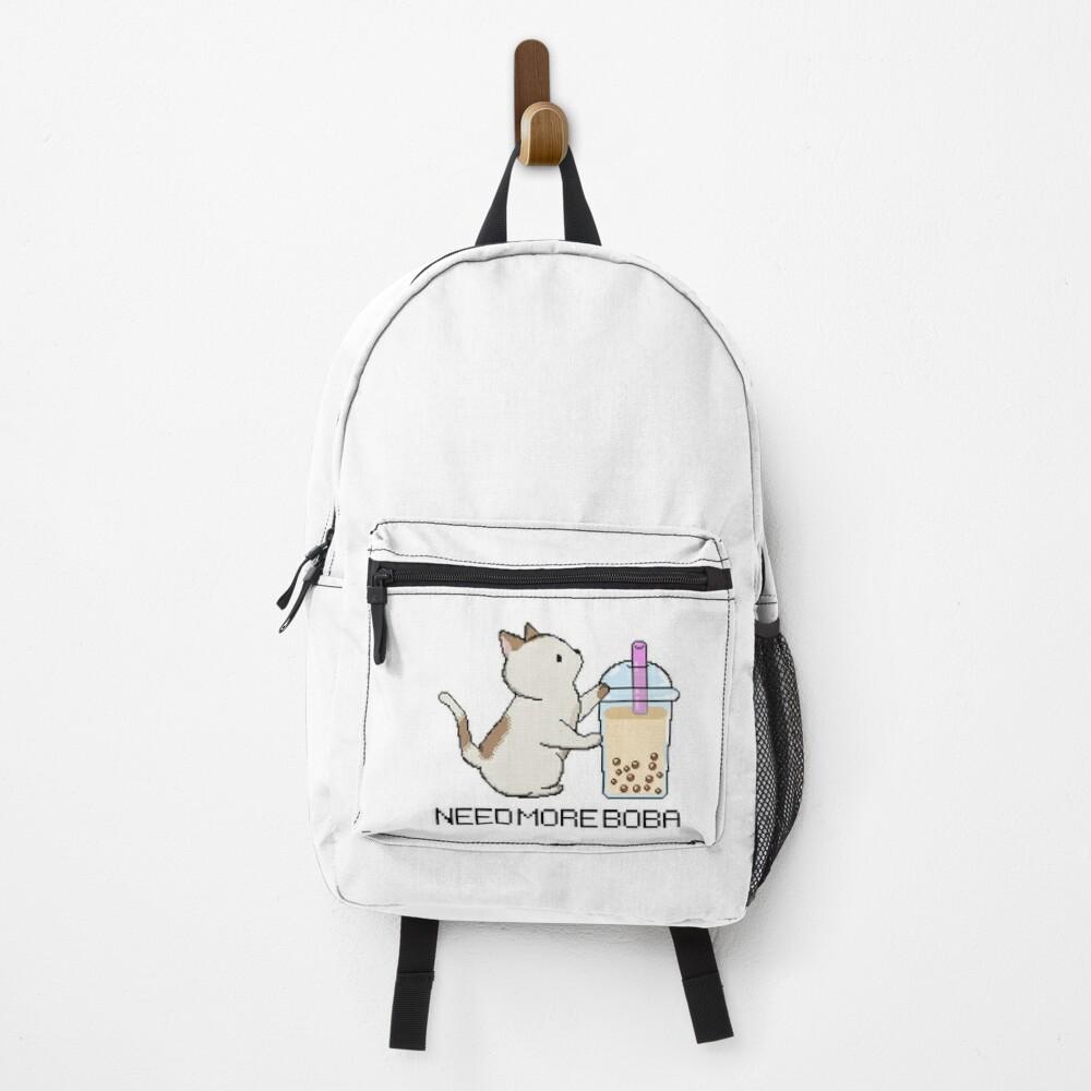 Pixel Kitty Needs More Boba Tea! Backpack