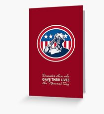 Memorial Day Greeting Card African American Soldier Salute Flag Greeting Card