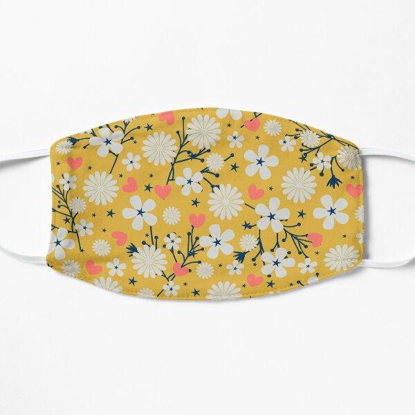 Dancing Blossom - Yellow Flat Mask