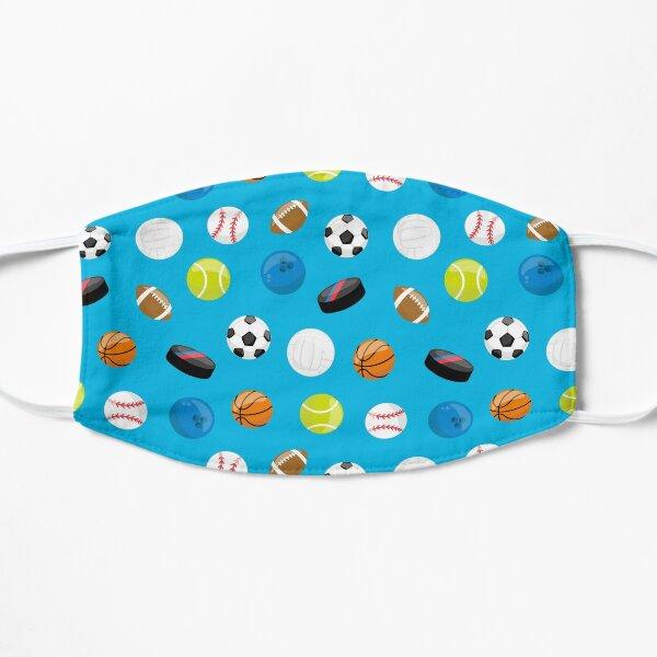 Blue Sports Balls Coach Athlete Print Mask
