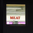 Meat through a window by Heather Samsa