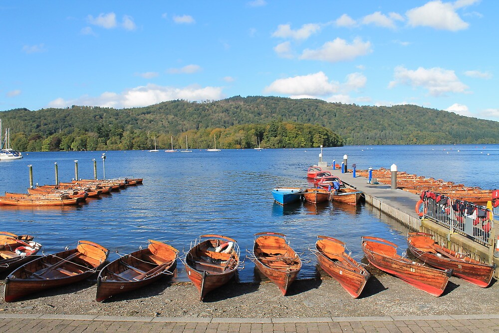 Rowing Boats on Lake Windermere by Catherine Longhurst