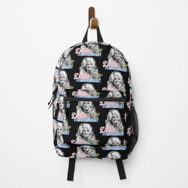 Dolly Parton for President black background Backpack