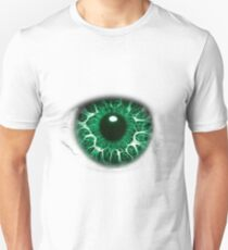 FREAKY GREEN EYE T-SHIRT DESIGN, The Incredible Hulks Eye, Bruce Banner Transforms Into The Incredible Hulk T-Shirt