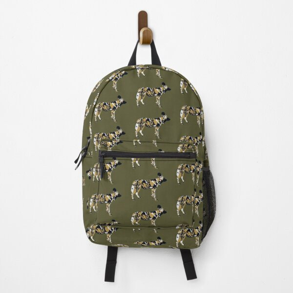African Painted Dog Portrait Backpack