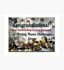 Feature Banner for Challenge - Weekly Theme Challenge Group Art Print