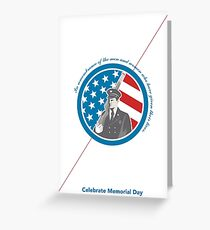 Memorial Day Greeting Card Soldier Military Serviceman Holding Rifle Greeting Card