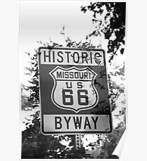 Route 66 Shield in Missouri Poster