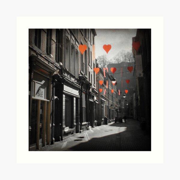 Valentines Day, Namur, Belgium Art Print