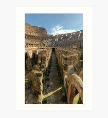 Hypogeum of the Colosseo Art Print