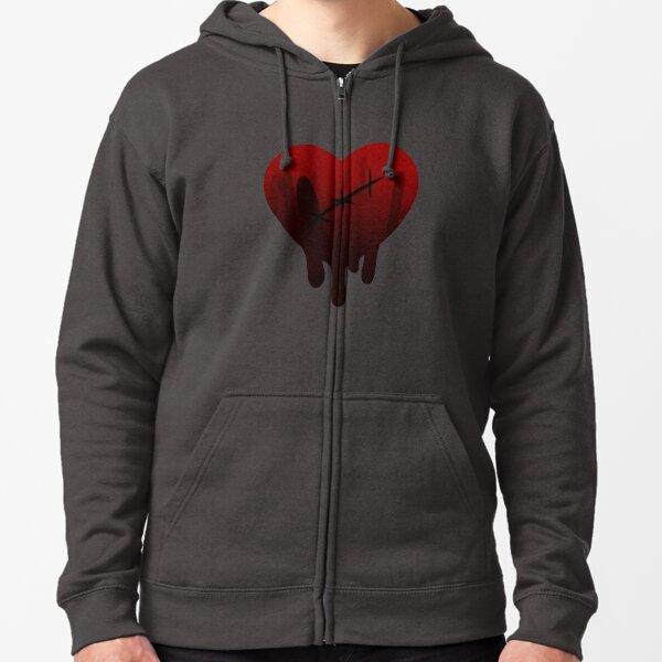 Bleeding Heart Zipped Hoodie