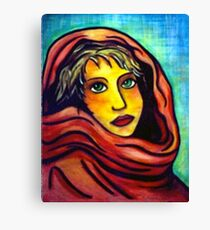 Red Shawl Canvas Print