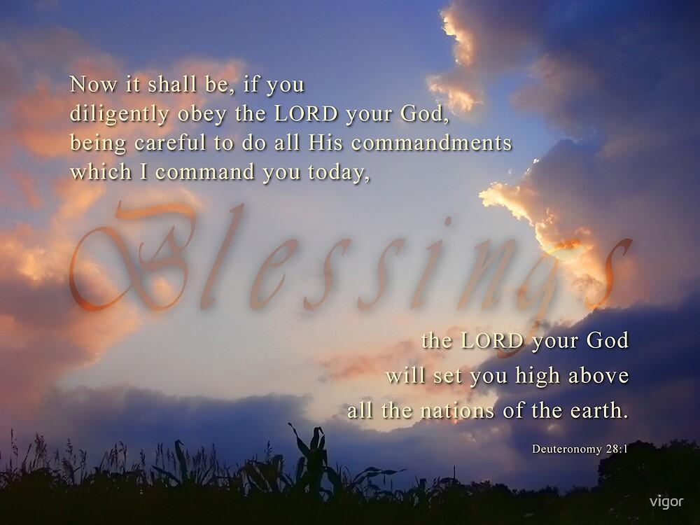 Blessings-Deu. 28:1 by vigor