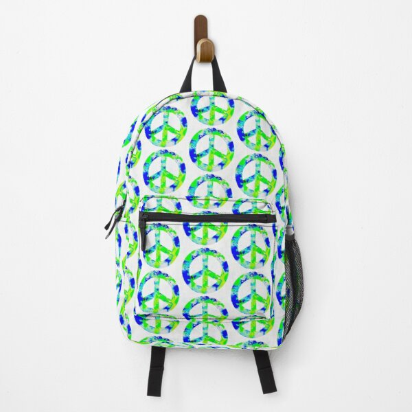 Green Peace Symbol  Backpack