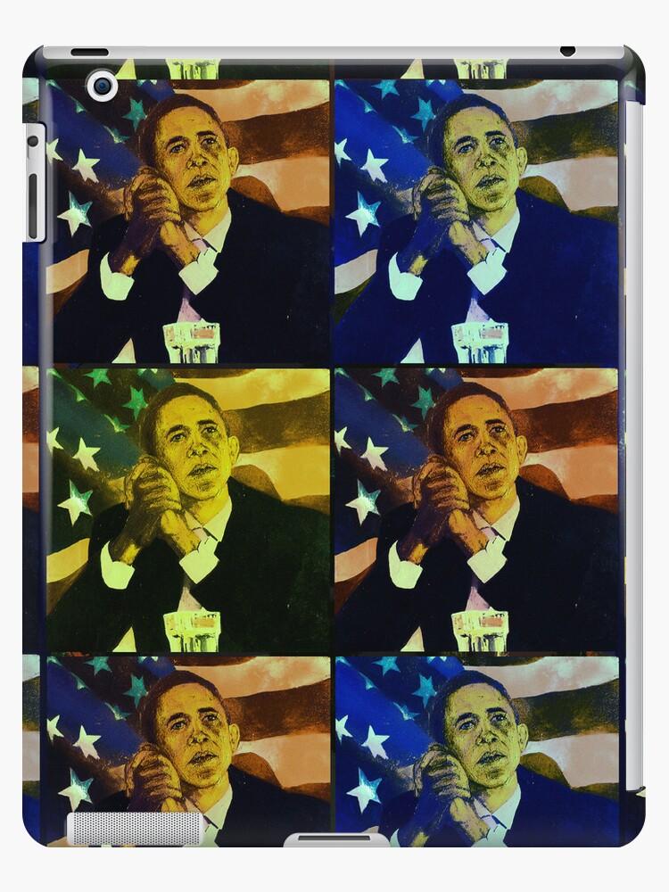 President Barack Obama - portrait by CatchyLittleArt