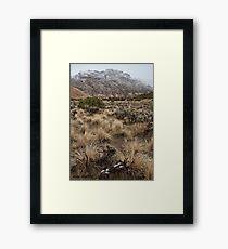 Split Mountain Grasses Framed Print