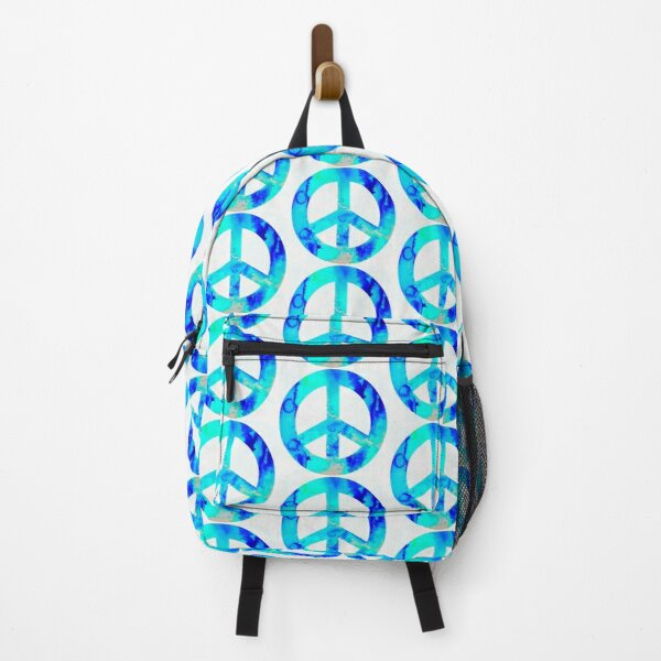 Blue Peace Symbol Backpack