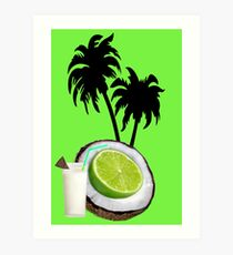 (….◕¸¸◕….)  U PUT THE LIME IN THE COCONUT PICTURE/CARD (….◕¸¸◕….) . Art Print