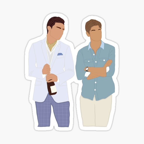 Chuck and Nate sticker Sticker