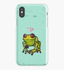 Cute froggy thinking deep frog thoughts iPhone Case/Skin
