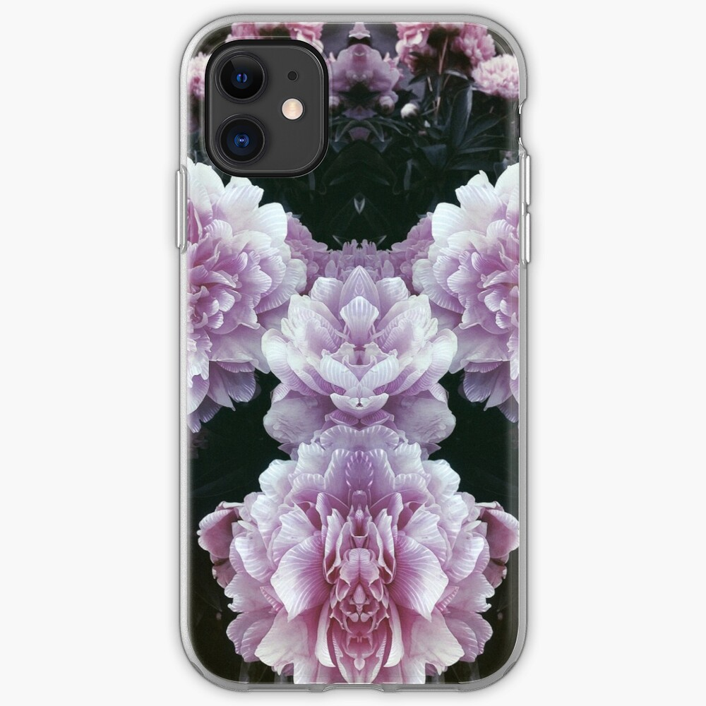 symmetrical peony lineart phone case iPhone Case & Cover