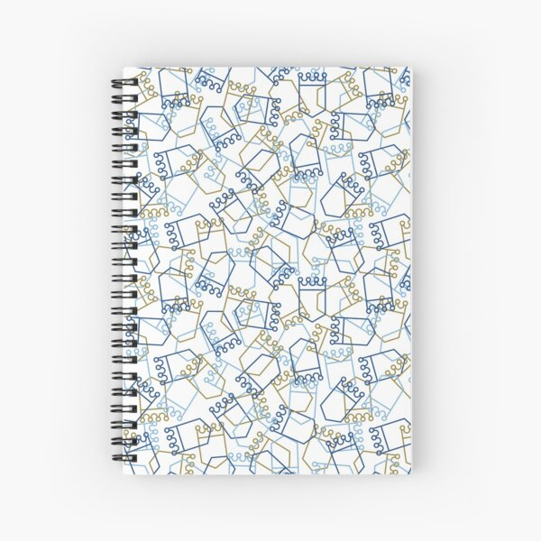 Royals Shield Pattern, White Background Spiral Notebook