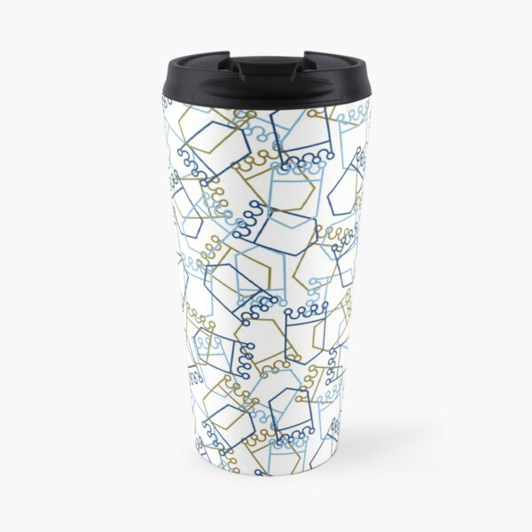 Royals Shield Pattern, White Background Travel Mug