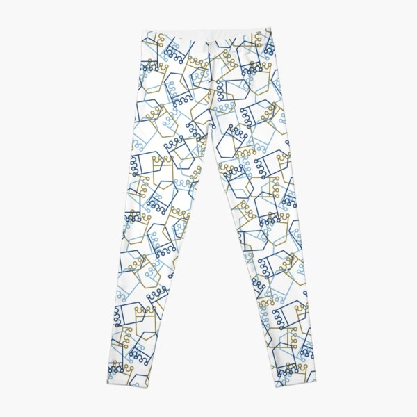 Royals Shield Pattern, White Background Leggings