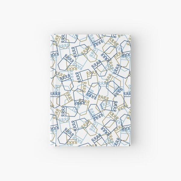 Royals Shield Pattern, White Background Hardcover Journal