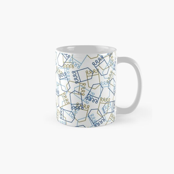 Royals Shield Pattern, White Background Classic Mug