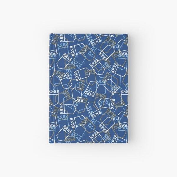 Royals Shield Pattern, Royal Blue Background Hardcover Journal