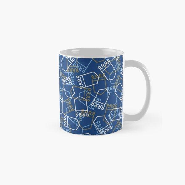 Royals Shield Pattern, Royal Blue Background Classic Mug