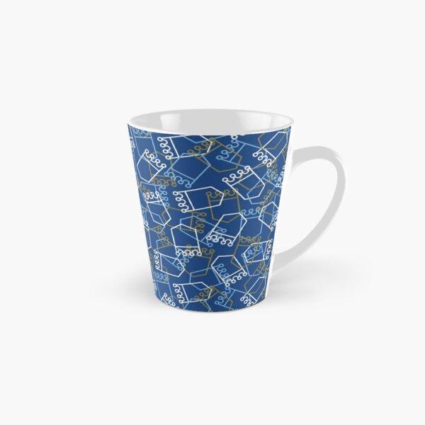 Royals Shield Pattern, Royal Blue Background Tall Mug