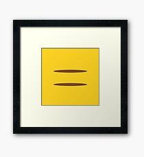 Simplicity: Pikachu Framed Print