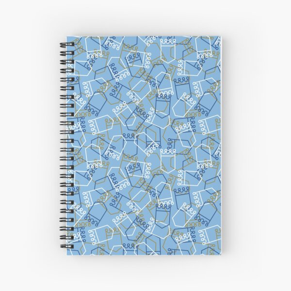 Royals Shield Pattern, Light Blue Background Spiral Notebook