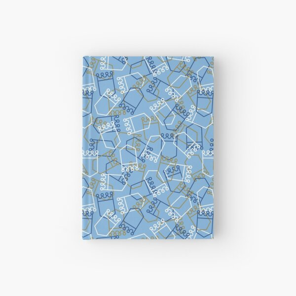 Royals Shield Pattern, Light Blue Background Hardcover Journal