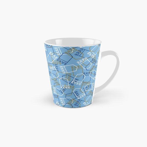 Royals Shield Pattern, Light Blue Background Tall Mug