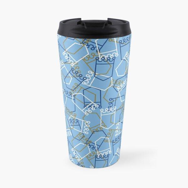 Royals Shield Pattern, Light Blue Background Travel Mug